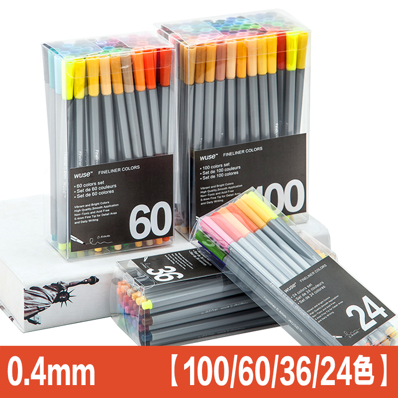 100color Fine Liner Pen Set Micron Sketch Marker Colored 0.4mm Coloring for Manga Art School Needle Drawing Sketch Marker Comics promotion touchfive 80 color art marker set fatty alcoholic dual headed artist sketch markers pen student standard