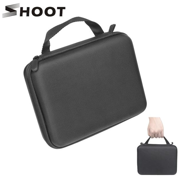 Atirar m/s tamanho eva caso portátil para gopro hero 9 8 7 5 sessão sjcam sj4000 para xiaomi yi 4k ação câmera coleção caixa de montagem