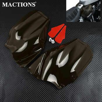 Boucliers de selle réfléchissants de moto pour déflecteur de chaleur d'air Harley pour les modèles Harley Sportster avec réservoirs de Style arachide 2014-19