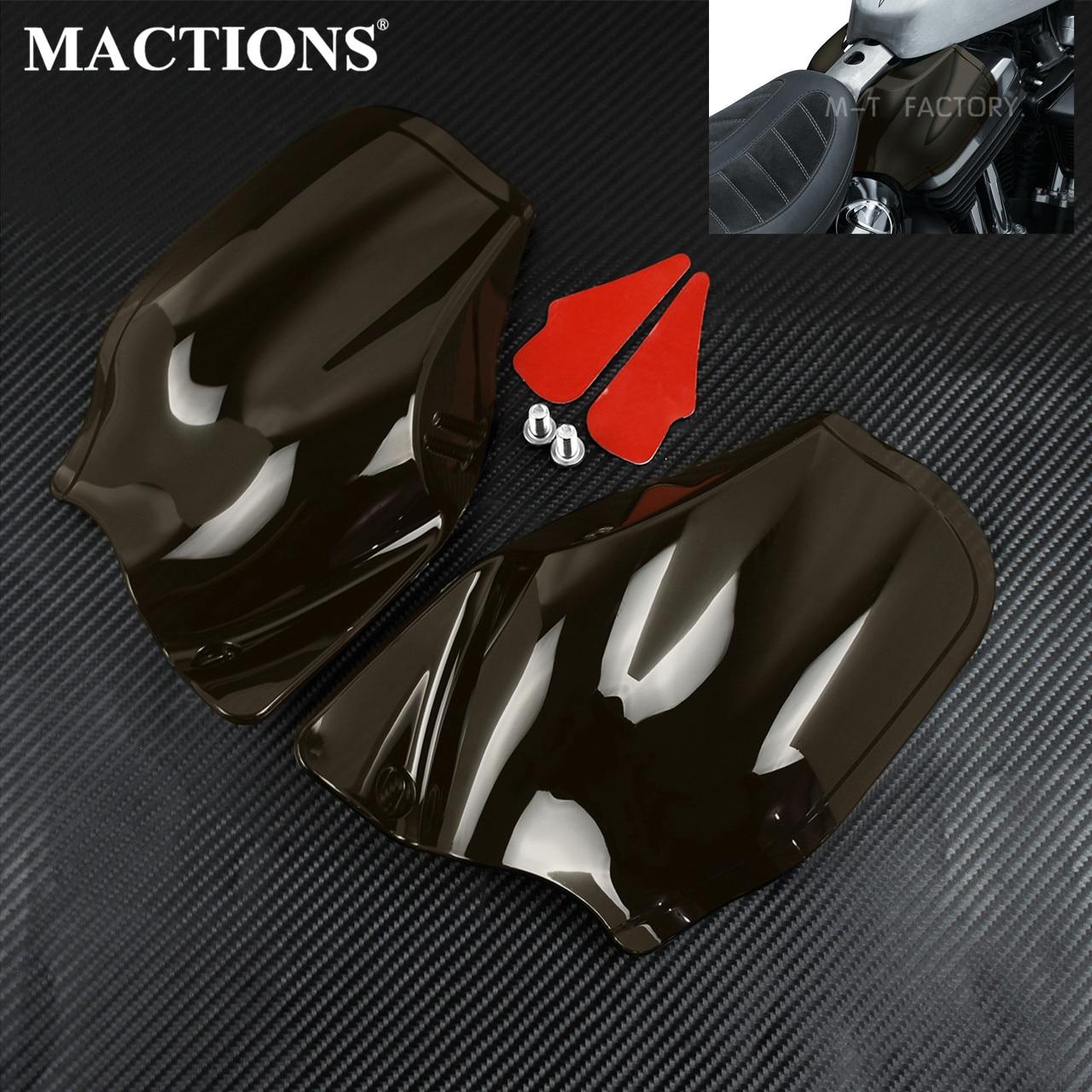 Motocicleta Reflexiva Defletor de Calor do Ar Para Harley Sportster Sela Escudos Para Harley Modelos Com Amendoim Estilo Tanques 2014-19