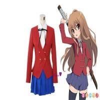 Japonais Anime TIGRE DRAGON Toradora Aisaka Taiga Cosplay Costume École Filles Uniforme Comprennent Blazer + Chemisier + Jupe + Cravate CS20284