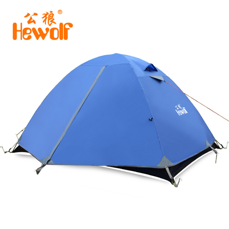 Portable 2 Person Camping Tent Double Layer Outdoor Beach Garden Mountaineering Hiking Waterproof Windproof Travel Barraca Tenda outdoor double layer camping tent family tent 3 person beach garden picnic fishing hiking travel use