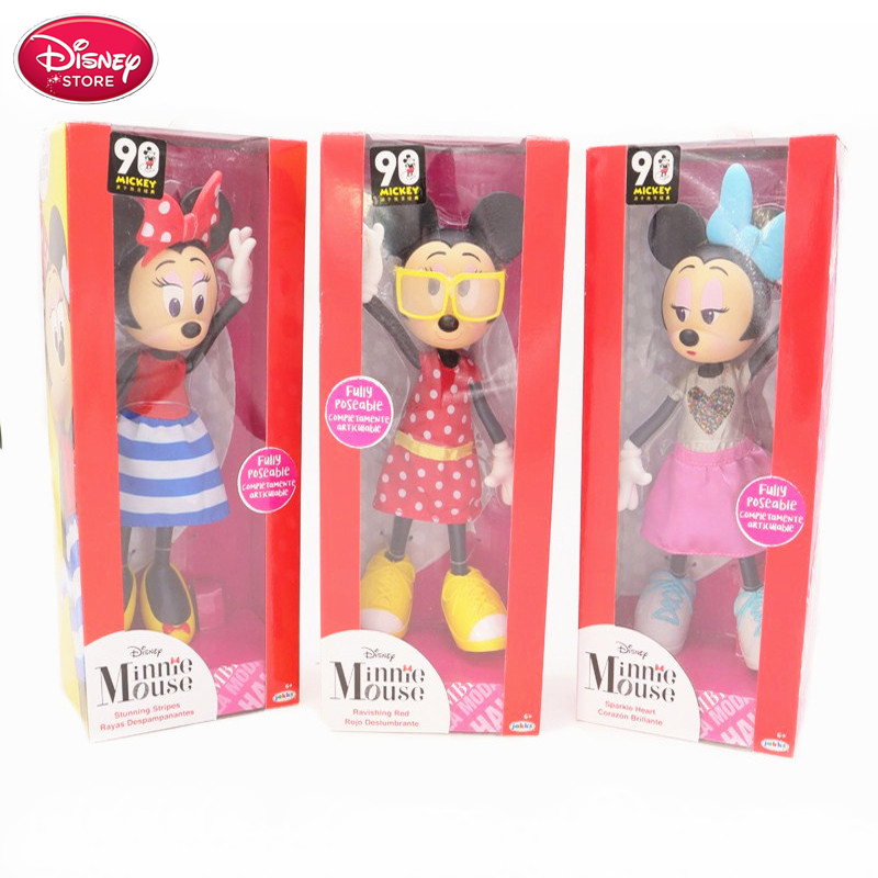 """Disney Store Minnie Mouse Plush 16/"""" Hot Pink Mickey Mouse Clubhouse Doll"""