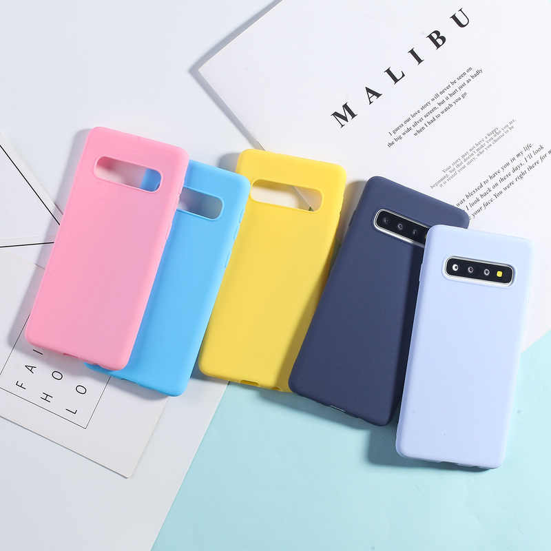 Case For Samsung Galaxy S10 S9 S8 S7 Cases Luxury Candy Color Cover For Samsung S10 Lite S7 Edge S8 S9 Plus Soft Silicone Capas
