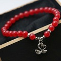 Natural Stone 6mm Classic Popular Red Jade beads Chalcedony Bracelet hand chain for women girls Pendant Swan Jewelry making