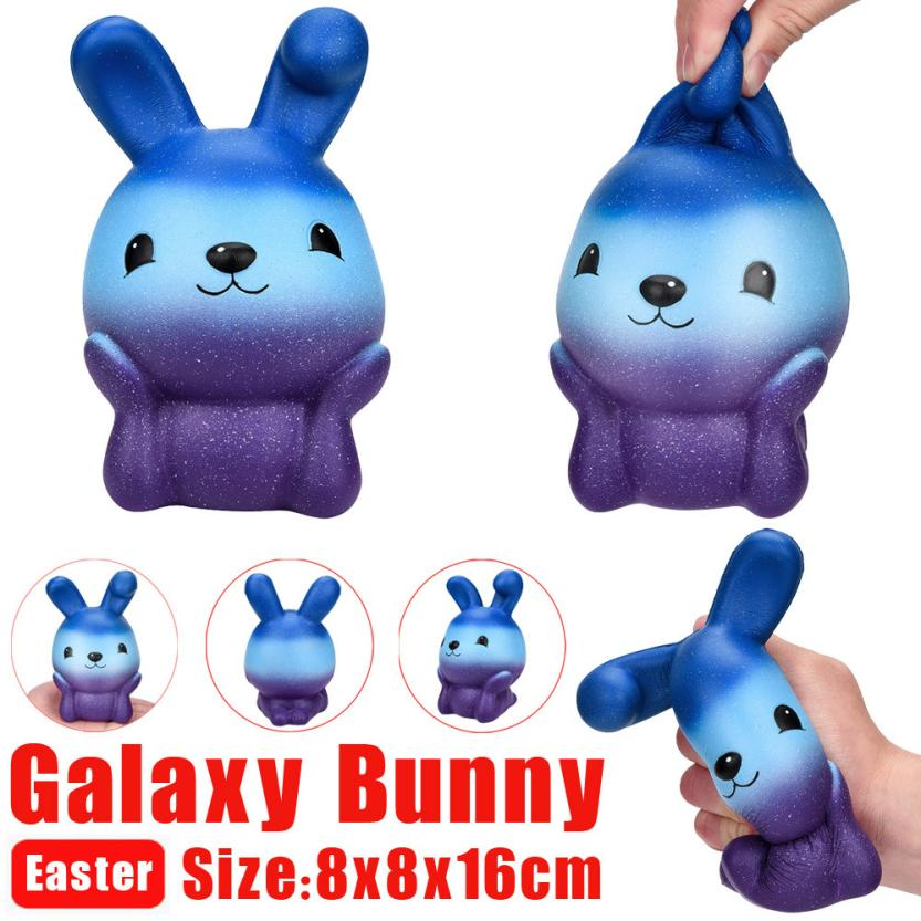 16cm Squishy Easter Galaxy Bunny Scented Slow Rising Squeeze Collect Easter Cute Gift Exquisite Fun Kid Adult Antistress Toy