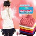 El otoño y el invierno masculina niña suéter suéter engrosamiento camiseta básica de manga larga de cuello alto suéter niño niño pequeño