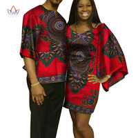 Dashiki Couples Clothes African Dresses for Women and Men Shirt African Clothes for Lovers Traditional African Clothing WYQ96