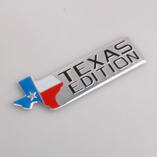 Auto Aluminium Alloy Texas Flag Texas Edition Fender Trunk Emblem Badge Sticker Car Stickers Fit For Ford F150 F250 Car styling aluminium alloy office worker id badge holder with detachable stripe lanyard strap
