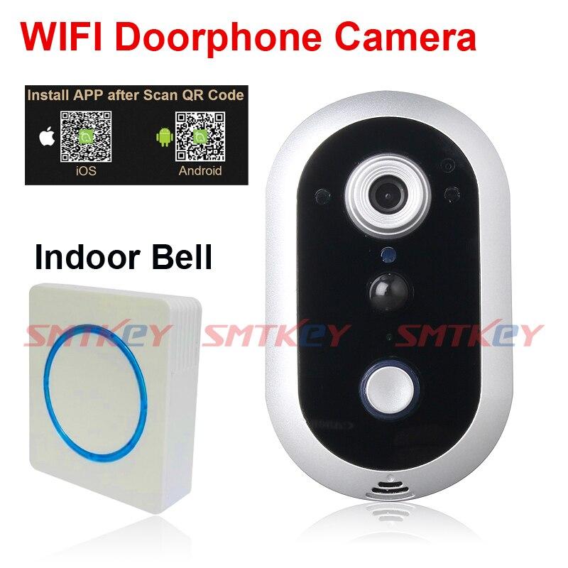 720 P WIFI sans fil Interphone Caméra WIFI sonnette caméra avec intérieur cloche