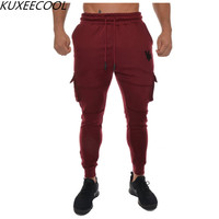 2018 Joggers Sweatpants Pleated Simple Men Pants Feet Black Trousers Man Cotton Casual Pants Comfortable Male Trousers