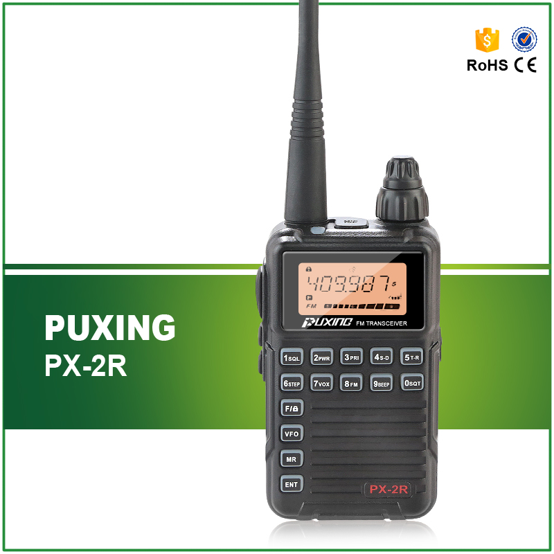 Professional Dual Receiver Two Way Radio Update Version PUXING PX 2R UHF 400 470MHz UHF TX