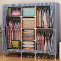 Хорошо продаются Большой Шкаф Простой Дома Стали Для Хранения Одежды Смелые Толще Стальная Рама