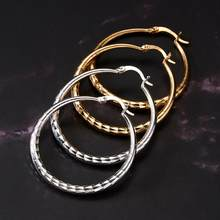 Geometric Twisted Pattern Earrings Small Middle Large Size Silver Gold Raindrop Ear Ring Women Sexy Hoop Earring Jewelry(China)