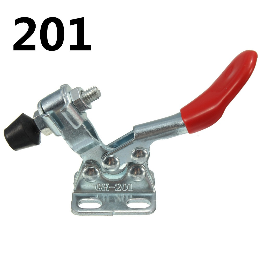 27kg Quick Release Toggle Clamp GH-201 Horizontal Hand Tool For Fixing Workpiece nrh 5619a 230 cold rolled steel latch clamp wholesale price high quality horizontal pull toggle clamp zinc plating