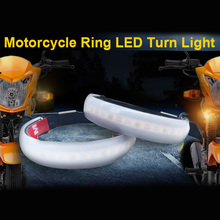 2pc LED 45mm-70mm Fork Turn Signal Kit&Smoked Lens For Harley Victory Motorcycle