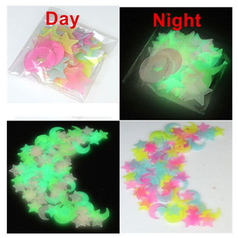 100Pcs-set-Night-luminous-Moon-Star-Stickers-Light-Up-Glow-In-The-Dark-for-Baby-Kids (1)