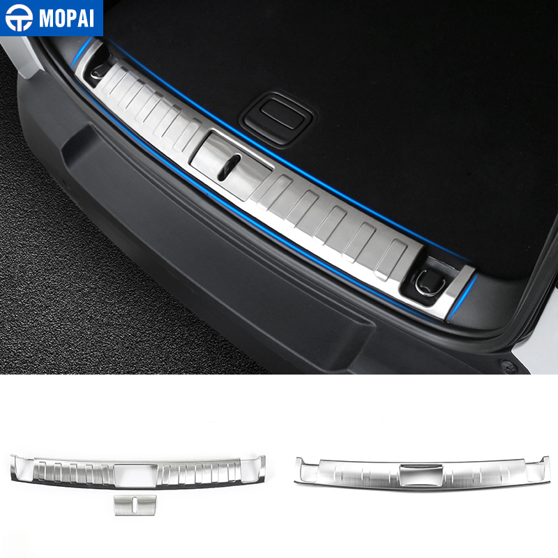 MOPAI Stainless Steel Car Interior Rear Trunk Protect Door Sill Guard Decoration Trim For Jeep Renegade