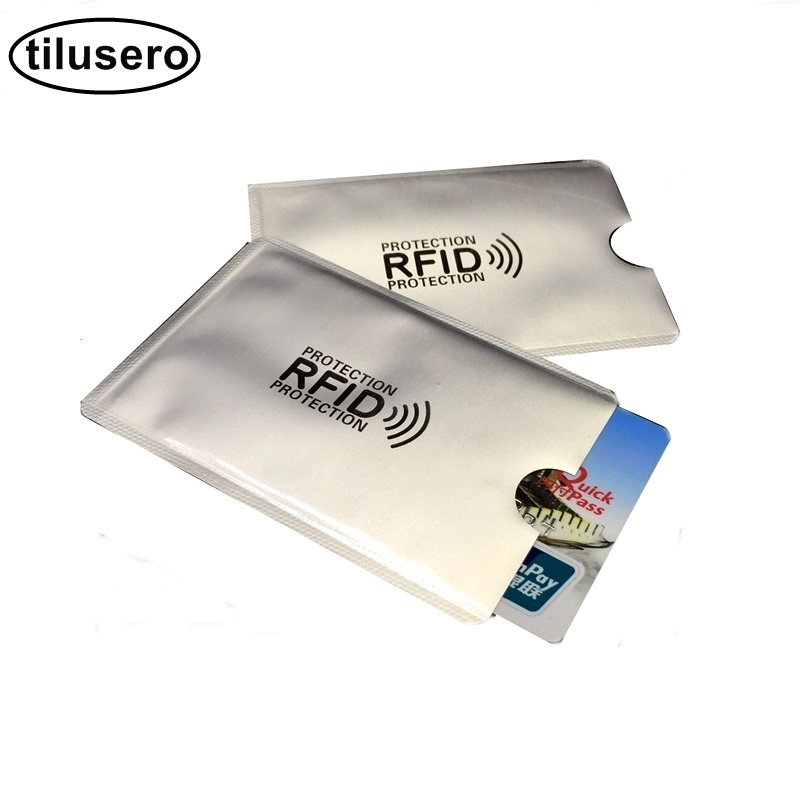 1pc New Aluminum Anti Rfid Reader Blocking Bank Credit Card Holder Protection New Rfid Card Reader Metal Credit Card Holder H039 fashion pu leather business card holder for man aluminum bank credit card case protection rfid blocking organizer