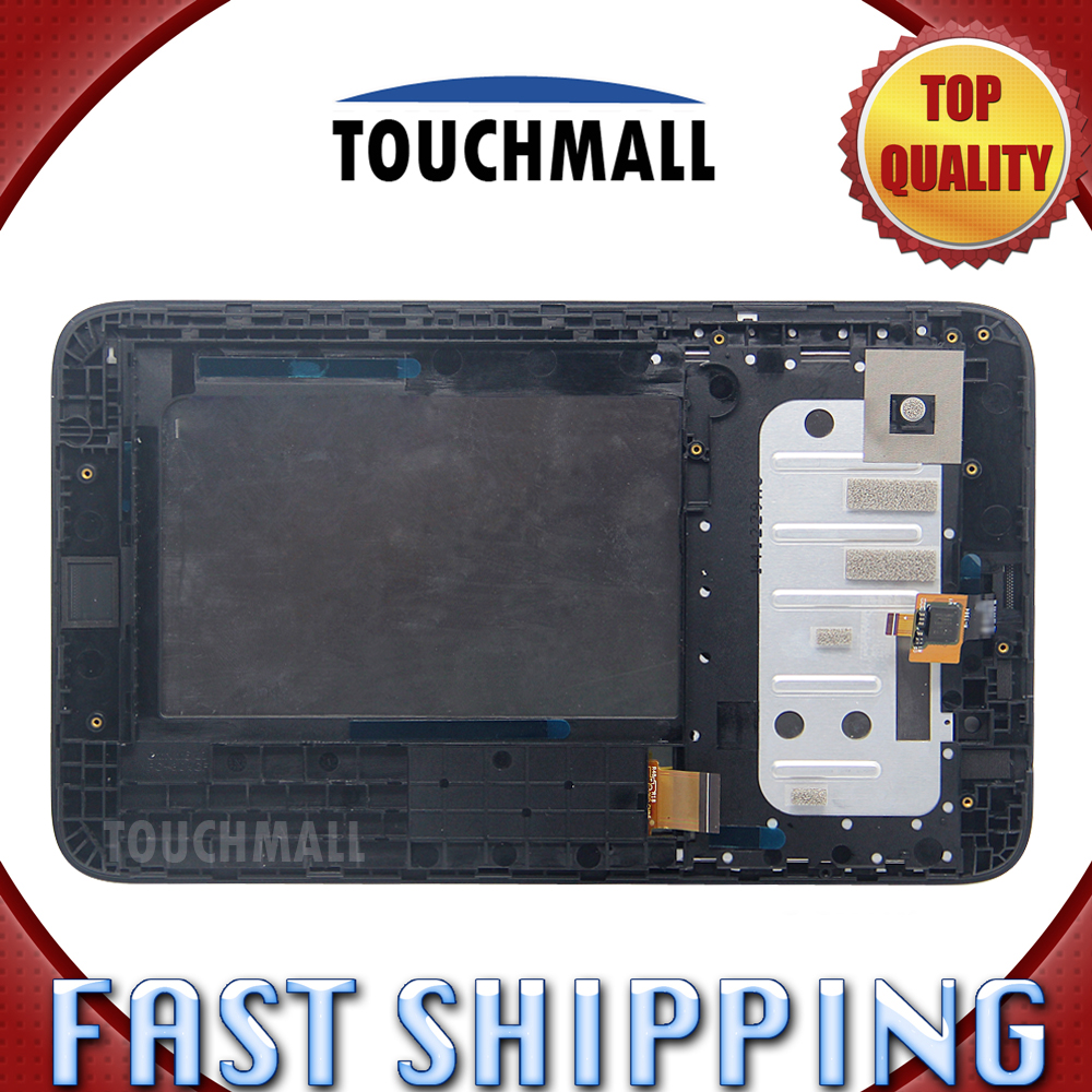 For New LCD Display Touch Screen Digitizer Glass with frame Assembly Replacement Lenovo A3300 A3300T 7-inch Black Free Shipping for lenovo vibe x2 lcd display touch screen digitizer assembly with frame free shipping track number