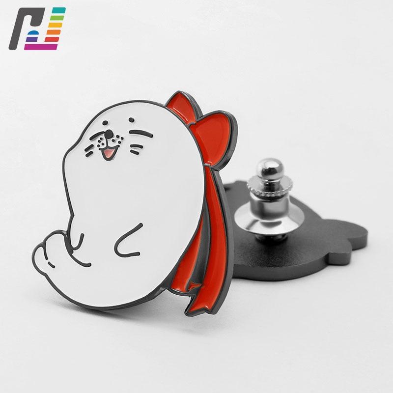 Funny Cute Seal Pin Badges Brooches Cartoon Animals Enamel Lapel Pin Custom Backpack Cloth Decorate Buy at Least 50PCS star lapel pin