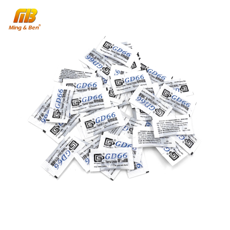 50PCS GD66 Thermal Conductive Grease Paste Silicone Plaster Heatsink Compound Grams High Performance Gray For DIY LED Floodlight