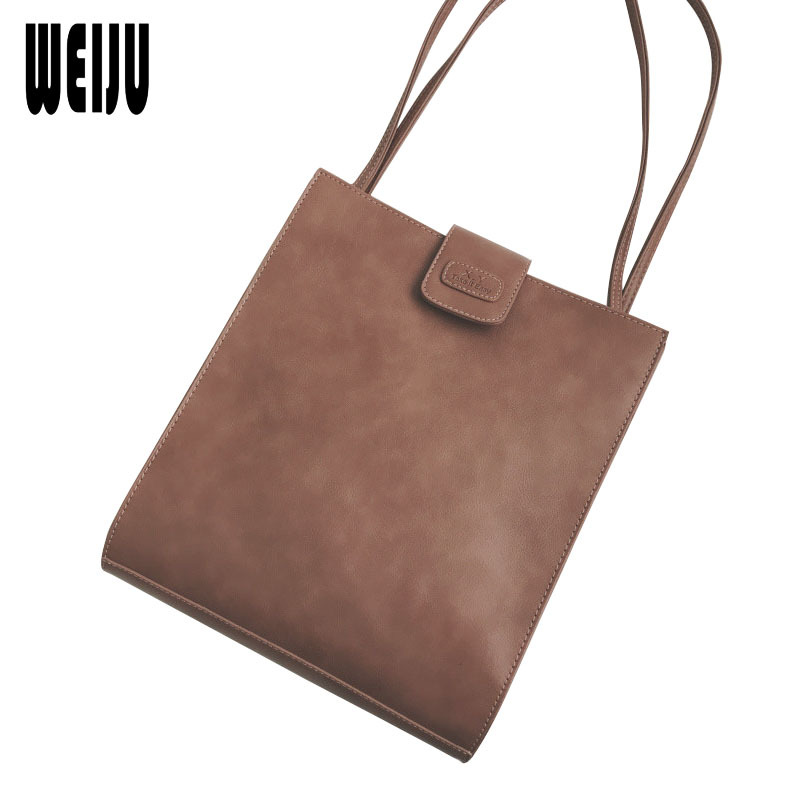 цена на WEIJU 2018 New Fashion Bags for Women Shoulder Bag Big Capacity Black PU Leather Women Handbag Vintage Large Hand Bag Tote Bags