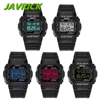 JAVRICK Military Waterproof Men S LCD Digital Stopwatch Date Rubber Sport Wrist Watch