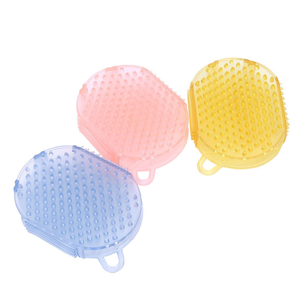 Multifunctional Silicone Smooth Slimming Cellulite Brush Bathing Massage Glove Massager Relaxation Anti Fat Body Random Colour