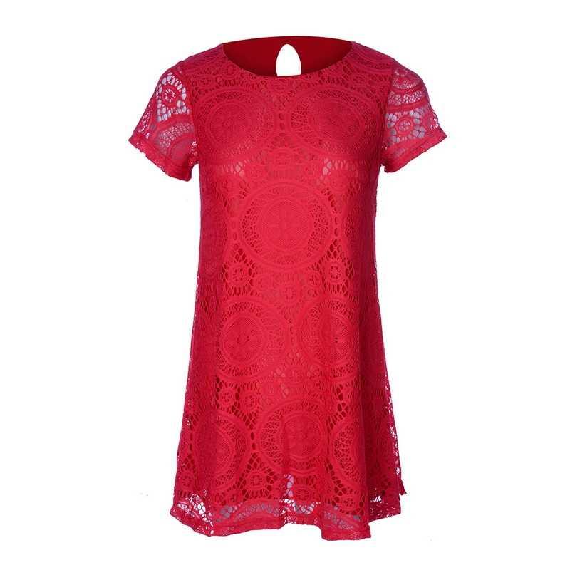 Laamei 5XL женское летнее кружевное платье с коротким рукавом и О-образным вырезом элегантное платье для свадебной вечеринки Сексуальное Женское Платье Veastidos размера плюс