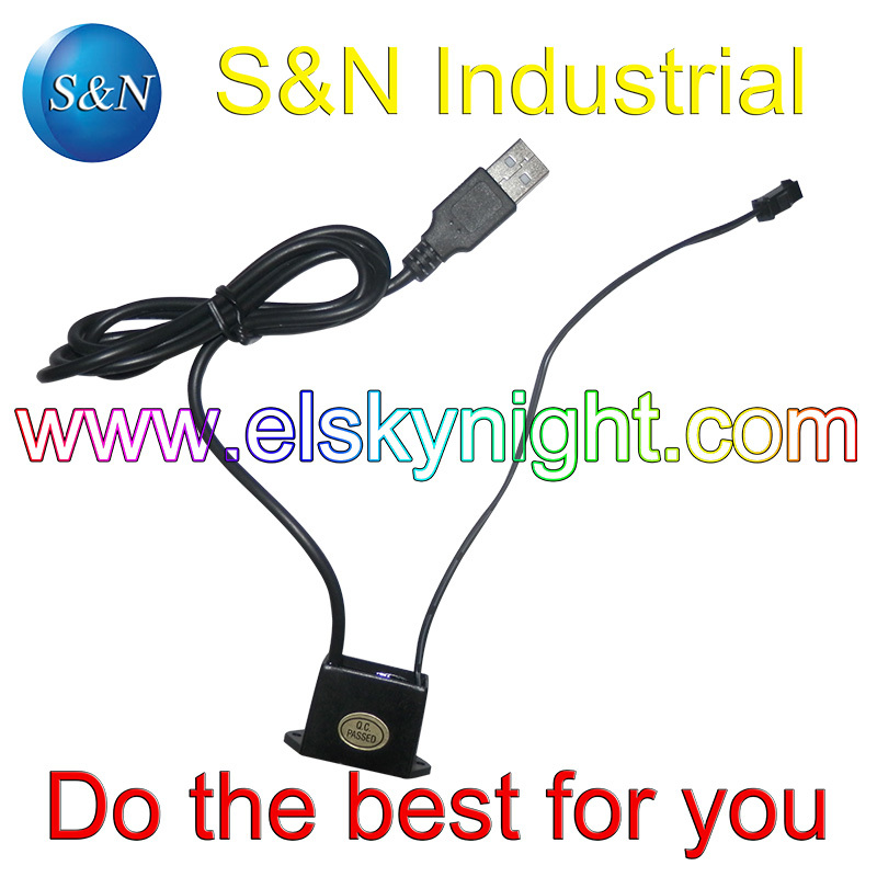 EL Inverter/controller 5V USB  For 1-3 Meters El Wire  Using For Car,bick,gift,party And Computer Decoration Free Shipping