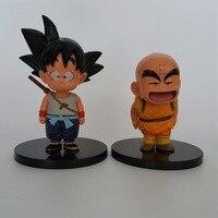 Dragon Ball Z фигурки Сон Гоку Krillin Супер Saiyan аниме Dragon Ball GT Модель игрушки молодой Гоку Krillin 2 шт./компл.