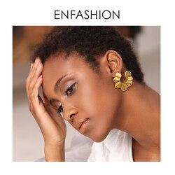 Enfashion galsang flor brincos para mulher 2018 earings moda jóias folha de aço inoxidável brinco conjunto orecchini 181060
