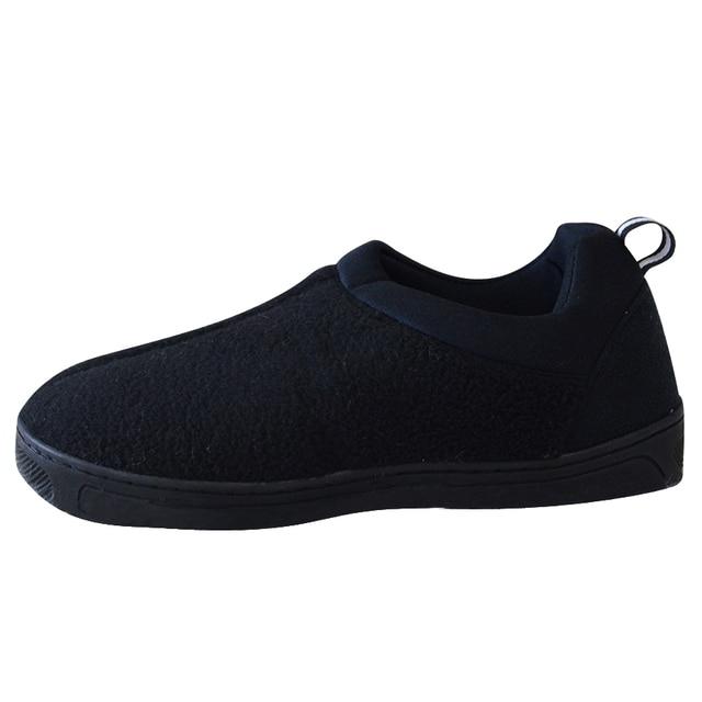Lover Winter Warm Cotton-Padded Shoes for Men Home Soft Slippers Fleece Indoor Flat Shoes Floor Socks Foot Warmer Pantufas