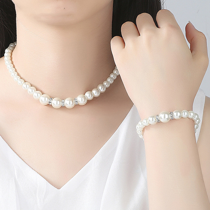 Fashion Simulated Pearl Bridal Jewelry sets For Women 28