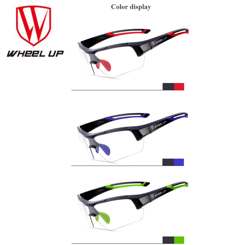 WHEEL UP Photochromic Cycling Glasses Discoloration Glasses MTB Road Bike Sport Sunglasses Bike Eyewear Anti-UV Bicycle Goggles polarized sport cycling glasses men women bicycle sun glasses mtb mountain road bike eyewear biking sunglasses 2016 goggles tr90