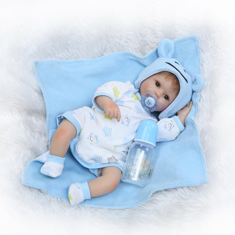 16 pouces 40 cm reborn bébés poupées reborn silicone vinyle nouveau-né à la main lol poupées comme enfants bebe en vie d'anniversaire cadeau brinquedos