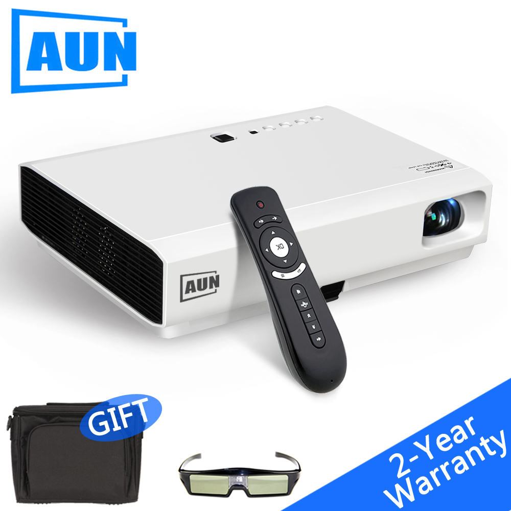 AUN 3LCD Android Projector 2800 Lumen 1280*800 AKEY Y2 & Z4 Aurora Built-in Android 4.4 WIFI Bluetooth. Support Miracast Airplay