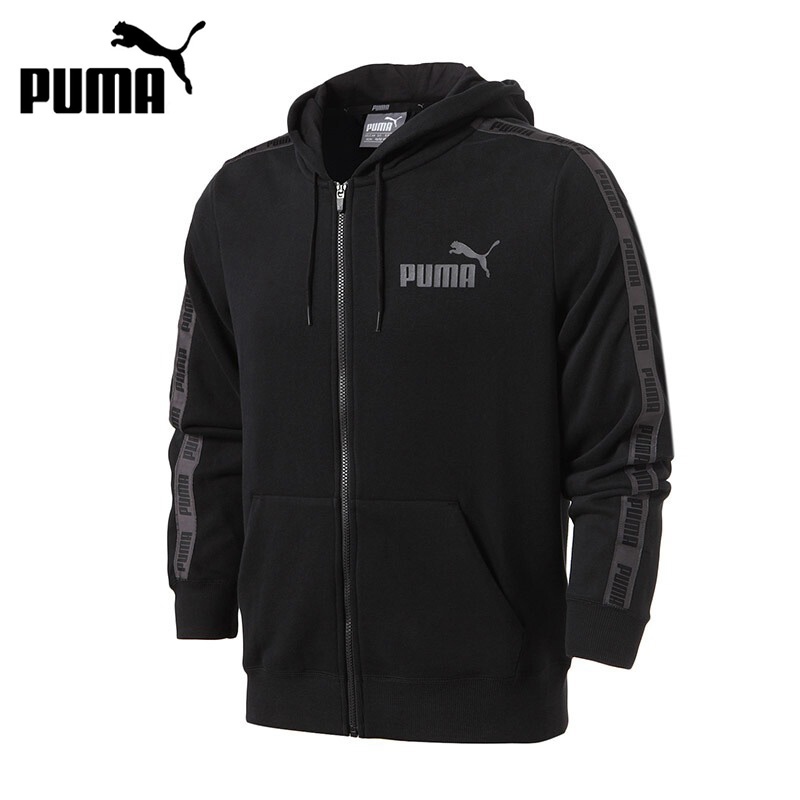 Original New Arrival 2017 PUMA Rebel Tape FZ Hoody TR Men's  jacket Hooded Sportswear толстовка женская puma urban sports fz hoody цвет темно зеленый 59404414 размер m 44 46