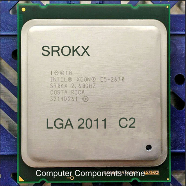 XEON 2670 XEON E5-2670 C2 CPU XEON E5 2670 C2 2670 XEON (20M Cache, 2.60 GHz, I) LGA 2011 SROKX C2 suitable x79