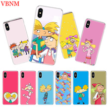 Hey Arnold Luxury Silicome Phone Case For iPhone 7 8 6 6S Plus X 10 Ten 9 XS MAX XR 5 5S SE Art Customized Cover Cases Coque
