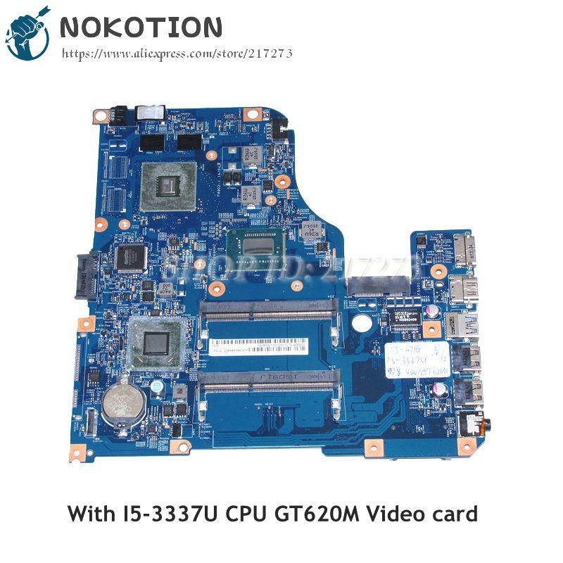 NOKOTIO For Acer aspire V5-471 V5-571 Laptop Motherboard 48.4TU05.021 NBM5S11002 I5-3337U CPU GT620M Video card