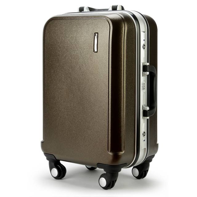"24"" Universal wheel rolling luggage ABS trolley luggage carry on luggage travel case hardside travel suitcase  mala de viagem"