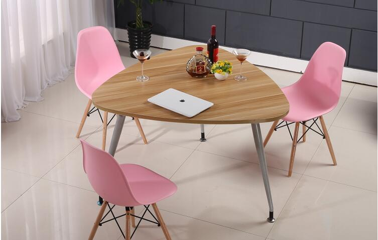 80*80*80*75CM Triangle Staff Meeting Table Conference Negotiation Reception Desk Laptop Computer Desk (Chair NOT Included) the boss chair conference reception negotiation of large chair recreational office leather chair