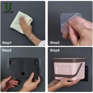 Image 5 - UNTIOR קיר רכוב פח אשפה ביתי מטבח פלסטיק נייד אחסון דלי פסולת סל Creative אמבטיה עם מכסה פח אשפה