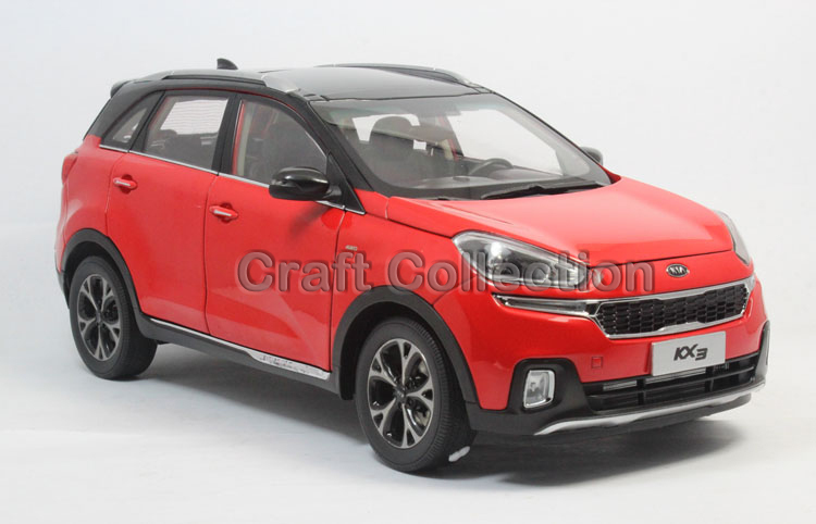 * Special Offer Red 1:18 Kia KX3 Cross SUV 2015 Alloy Model Diecast Cars Gifts Craft