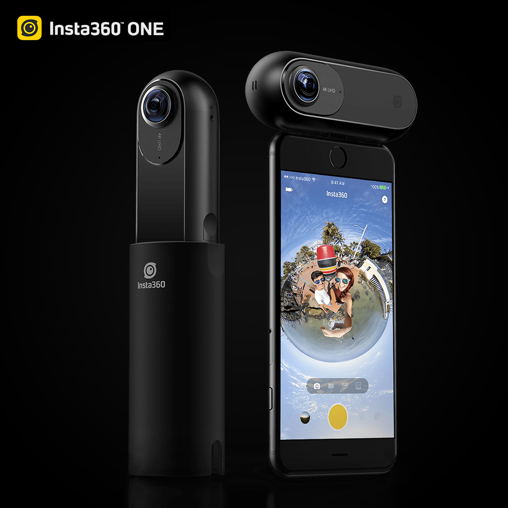 Insta360 ONE 4K 360 VR Video Action Camera Sport Camera 24MP Bullet Time 6-Axis Gyroscope Support BT for iPhone Cam insta360 one 4k 360 vr video action camera insta 360 sport panoramic 24mp mini camcorders camera