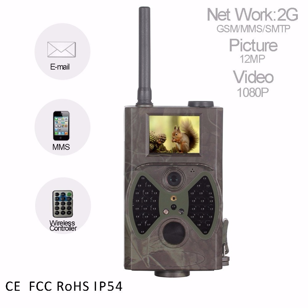 Hunting trail camera with 0.5S trigger 1080P Outdoor wild Hunting video camera GSM MMS photo traps 16mp