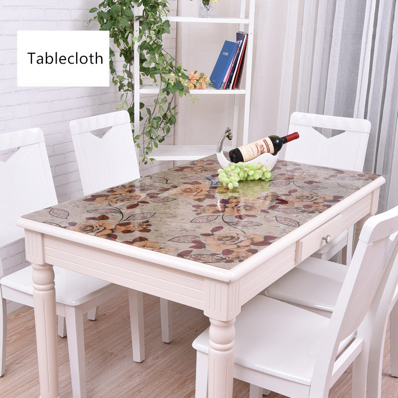 Europe Plastic Table Mat PVC Color Crystal Tablecloth