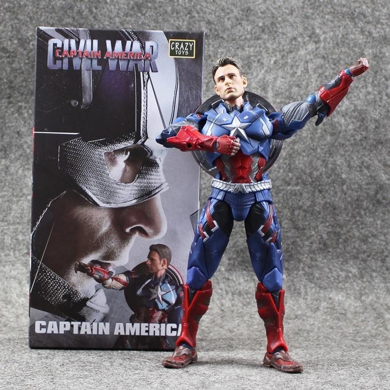 The Captain America 15cm Civil War 1/6 Joint movable PVC Action Figure Model ToyThe Captain America 15cm Civil War 1/6 Joint movable PVC Action Figure Model Toy